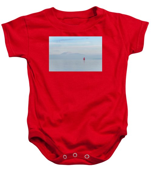 Red Sailboat On Lake Baby Onesie
