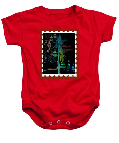 Red Stamp Baby Onesie