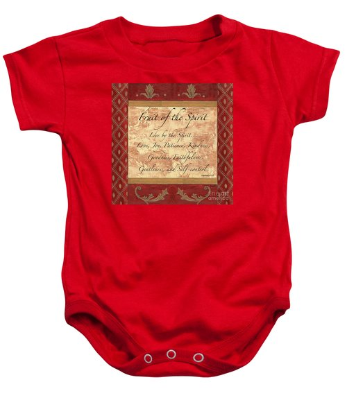 Red Traditional Fruit Of The Spirit Baby Onesie