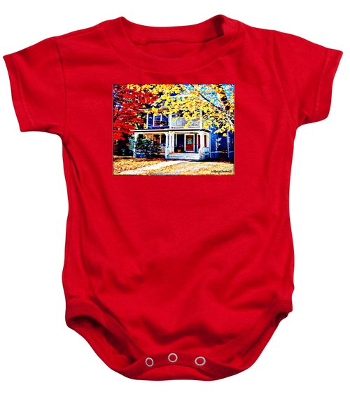 Reds And Yellows Baby Onesie