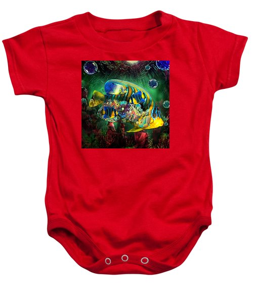 Reef Fish Fantasy Art Baby Onesie