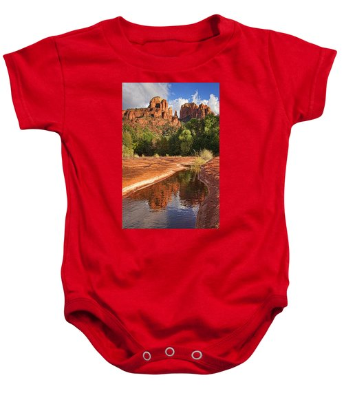 Reflections Of Cathedral Rock Baby Onesie