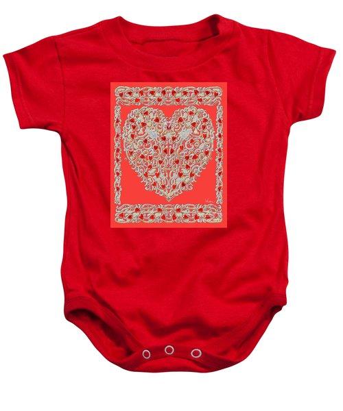 Renaissance Style Heart Baby Onesie