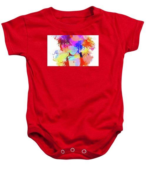 Rihanna Paint Splatter Baby Onesie by Dan Sproul