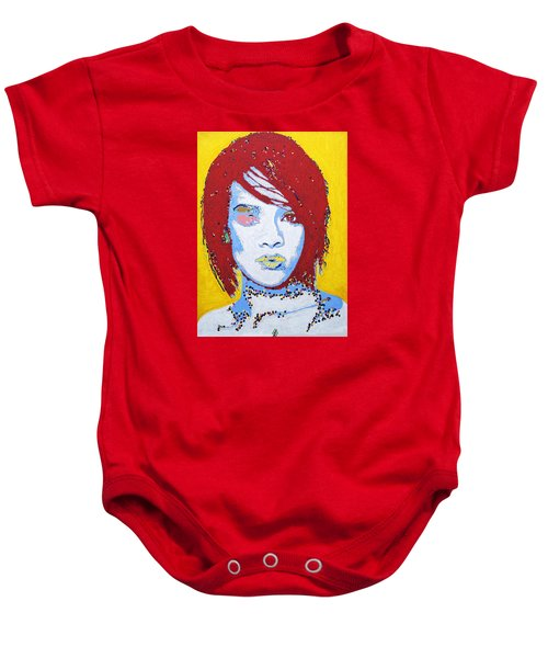 Rihanna  Baby Onesie by Stormm Bradshaw