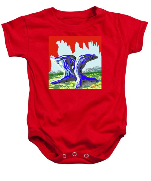 Rock Formations Baby Onesie