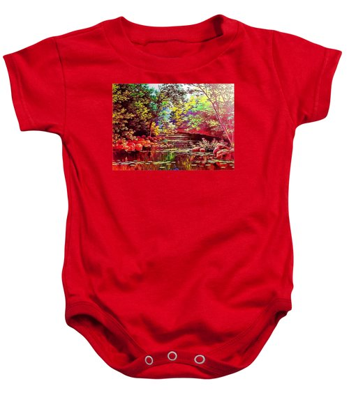 Baby Onesie featuring the digital art Rocky Rainbow River by Charmaine Zoe
