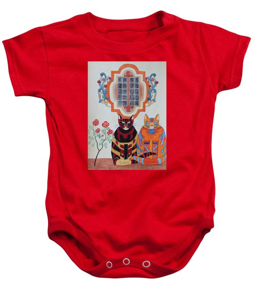Rosa And Pedro Of The Rose Window Of Mission San Jose Baby Onesie