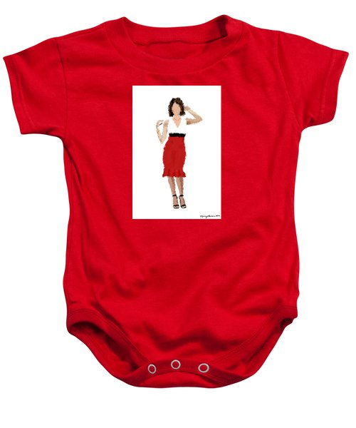 Baby Onesie featuring the digital art Ruby by Nancy Levan