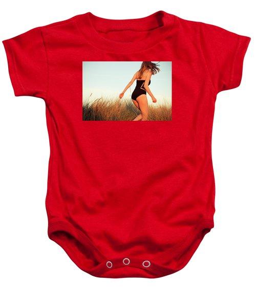 Running Unsharp In The Golden Hour Baby Onesie