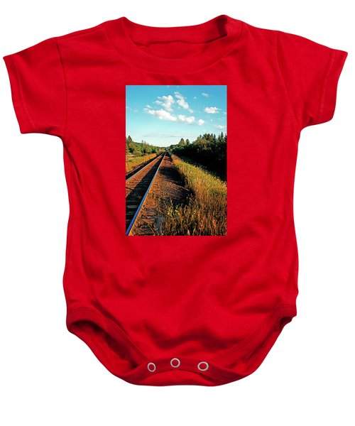 Rural Country Side Train Tracks Baby Onesie
