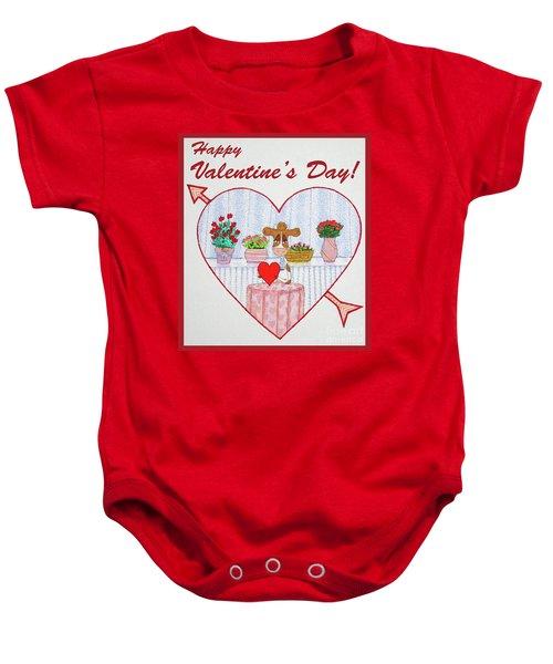Ruthie-moo Happy Valentine's Day Baby Onesie