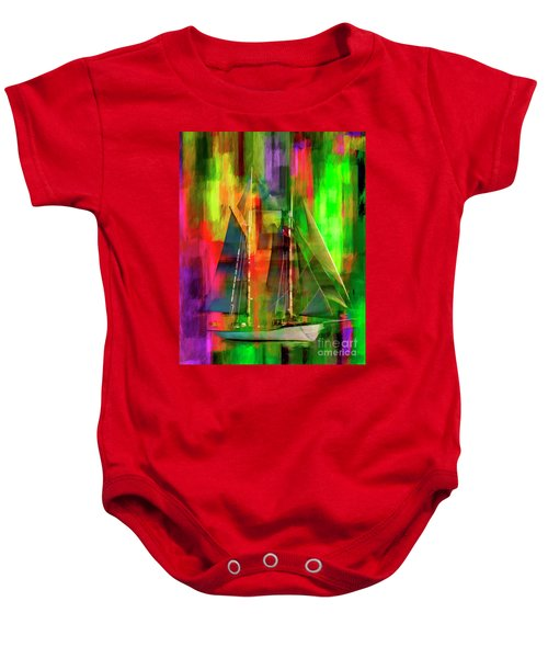 Sailing In The Abstract 2016 Baby Onesie