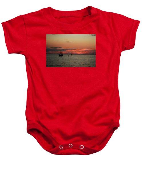 Sailing Sunset Baby Onesie