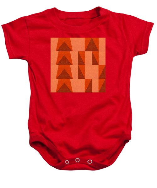 Baby Onesie featuring the painting Salmon With Red And Brown by Michelle Calkins