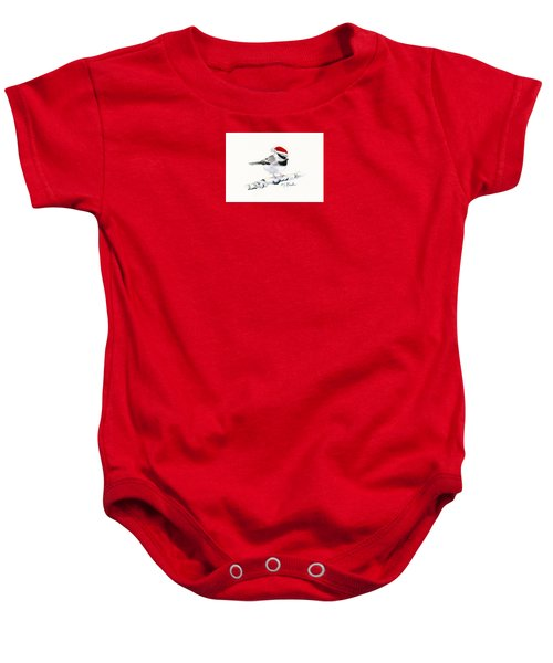 Santa Bandit - Chickadee Baby Onesie