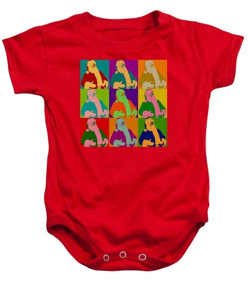 Santa Claus Andy Warhol Style Baby Onesie