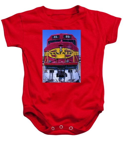Santa Fe Train Head On Baby Onesie