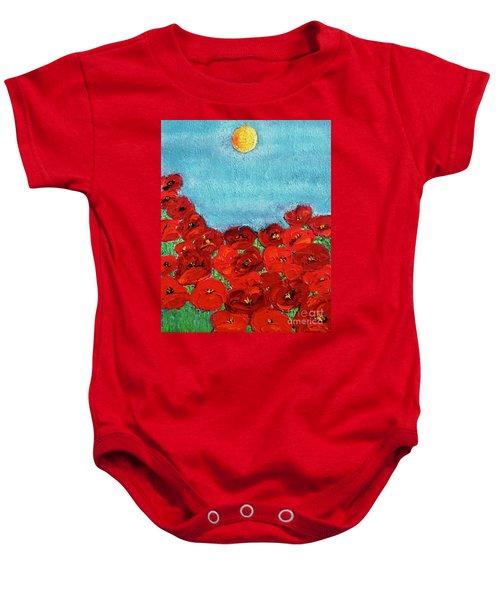 Sarah's Poppies Baby Onesie
