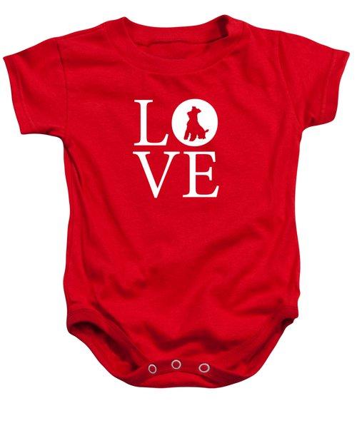 Schnauzer Love Red Baby Onesie