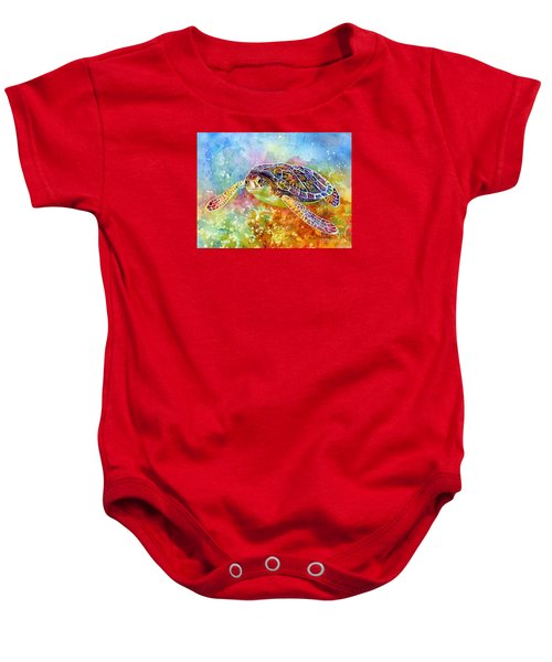 Sea Turtle 3 Baby Onesie