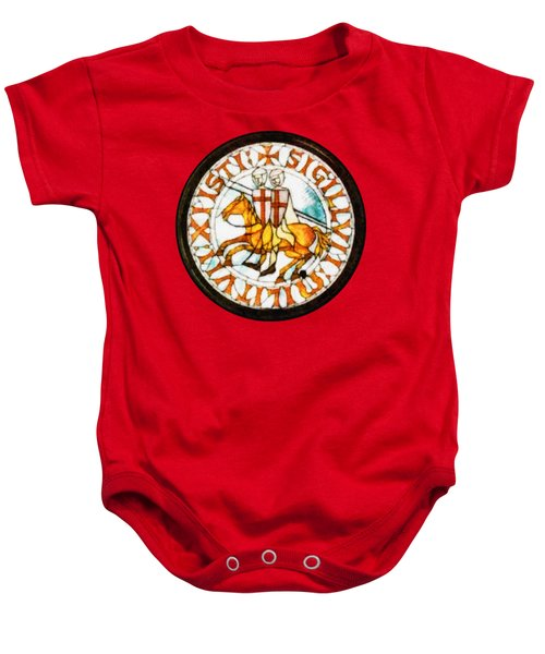 Seal Of The Knights Templar Baby Onesie by John Springfield