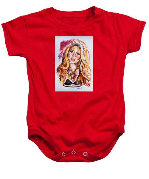 Shakira Baby Onesie by Viktoriya Lavtsevich