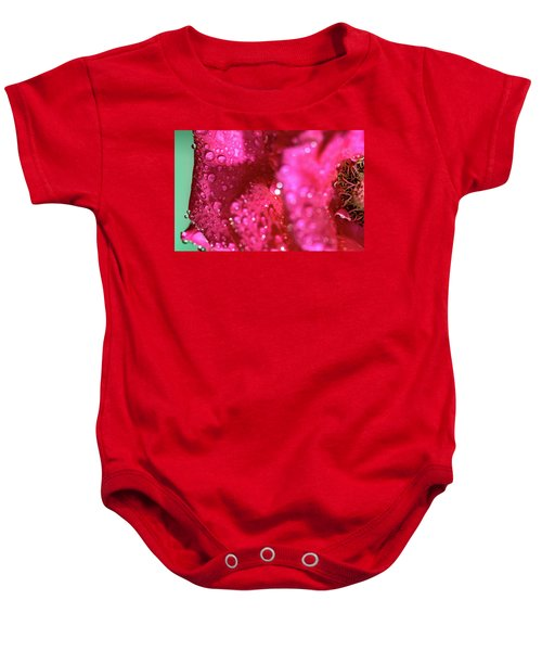 Sharp Wet Rose Baby Onesie