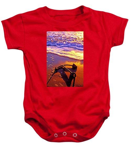 Ships Anchor On Beach Baby Onesie