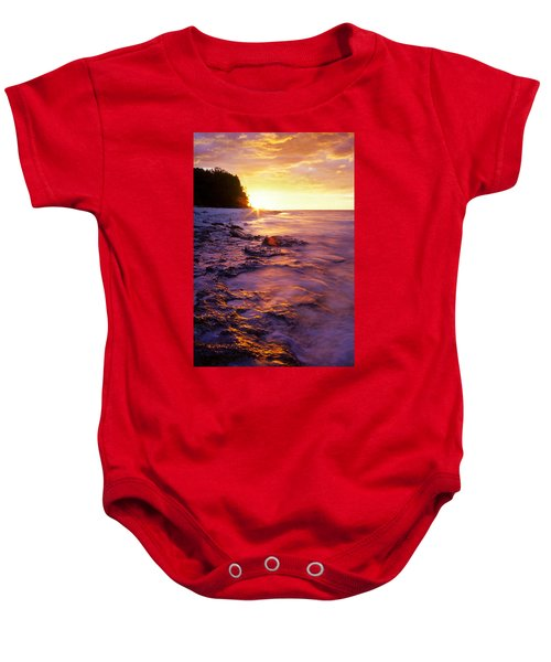 Slow Ocean Sunset Baby Onesie