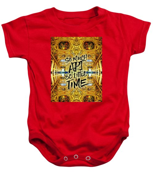 So Much Art So Little Time Apollo Gallery Louvre Paris Baby Onesie