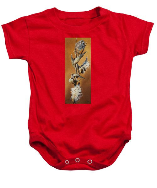 Song Sparrow And Milkweed Baby Onesie