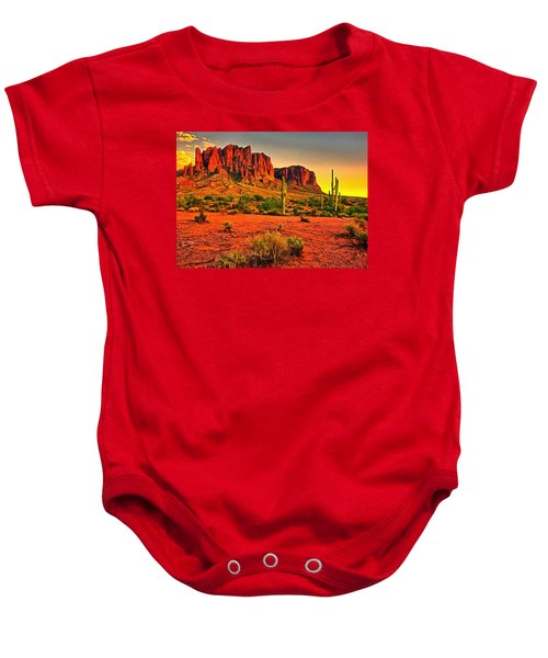Baby Onesie featuring the digital art Sonoran Desert by Charmaine Zoe