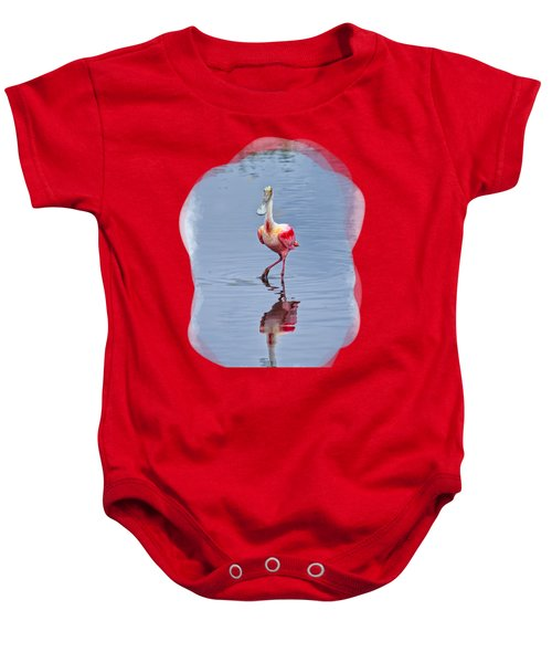 Spoonbill 2 Baby Onesie by John M Bailey