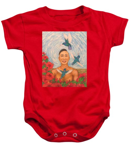 Spring Amazed By The Hummingbirds Baby Onesie by Kent Chua