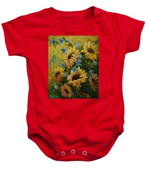 Sunflowers Galore Baby Onesie