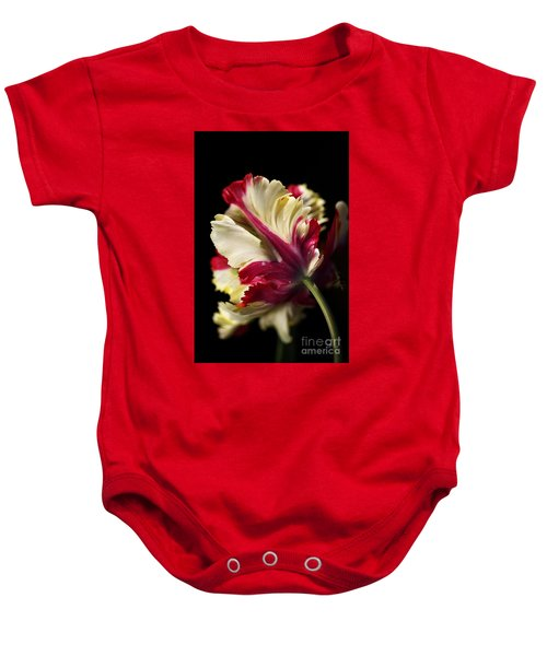 Spring Parrot Tulip Baby Onesie