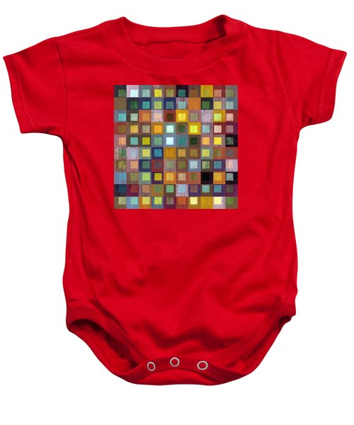 Baby Onesie featuring the digital art Squares In Squares One by Michelle Calkins