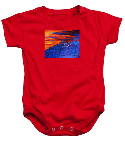 Star On The Mountain Baby Onesie