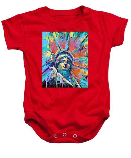 Statue Of Liberty New York Art Usa Baby Onesie