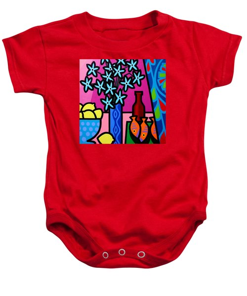 Still Life With Egyptian Curtain  Baby Onesie