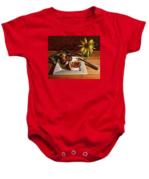 Still Life With Flower And Figs Baby Onesie