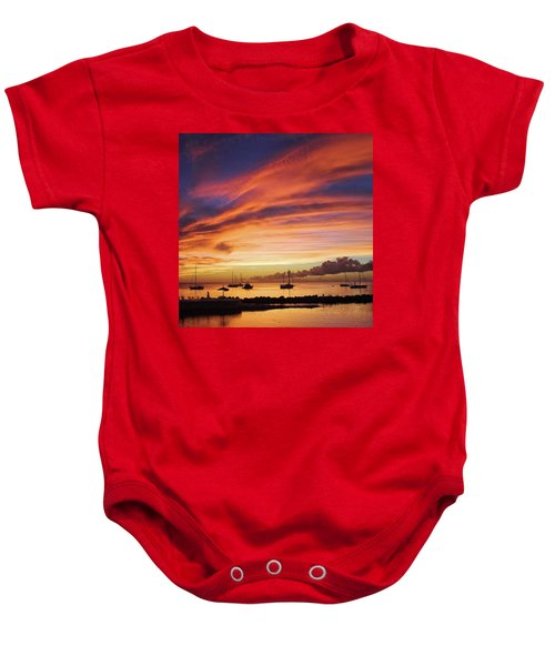 Store Bay, Tobago At Sunset #view Baby Onesie