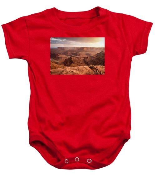Storm Over Canyonlands Baby Onesie