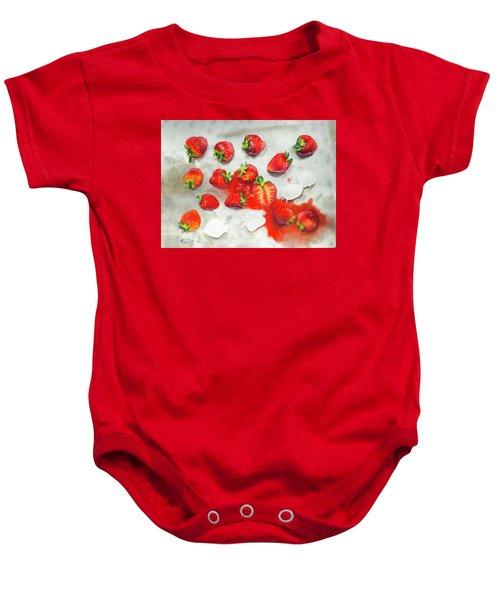 Strawberries On Paper Towel Baby Onesie