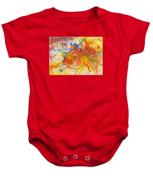 Summer Branches Alfame With Flower Acrylic/water Baby Onesie