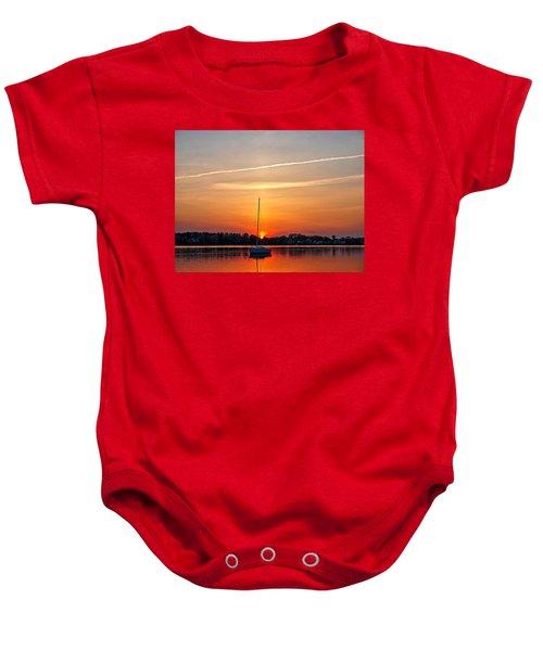 Summer Sunset At Anchor Baby Onesie