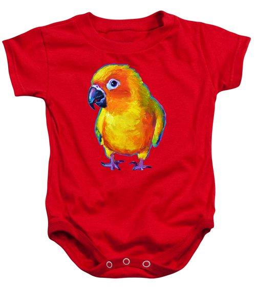 Sun Conure Parrot Baby Onesie