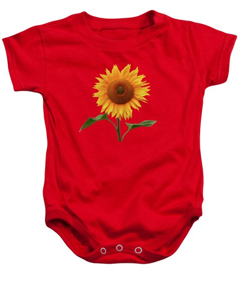 Sunflower And Red Sunset Baby Onesie