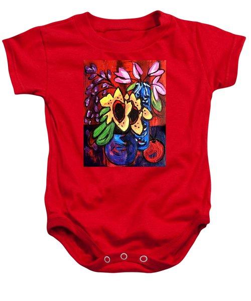 Sunflowers And Tulips Baby Onesie